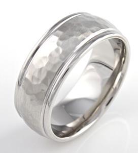 Dome Hammered Cobalt Ring