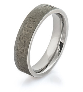 Cobalt Latitude and Longitude Ring