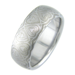 Mokumanium Heart Wedding Ring