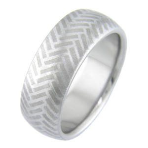 Mokumanium Herringbone Band
