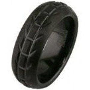 Men's Black Motorcycle Wedding Ring