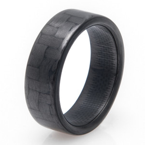 Narrow Carbon Fiber Unisex Ring