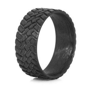 Men's Carbon Fiber Off-Road Wedding Ring