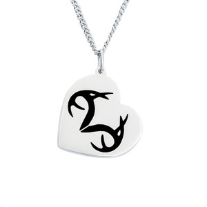Realtree Heart Black Pendant Necklace