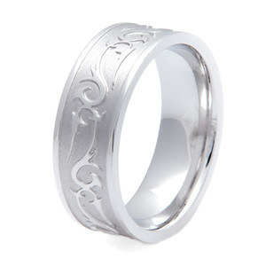 Men's Titanium Rebel Western Wedding Ring