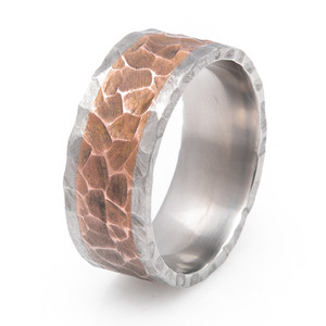 Copper Rock Finish Ring