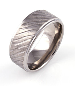 Deep Carved Rustic Ring