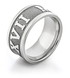 Men's Cobalt Chrome Roman Numeral Ring