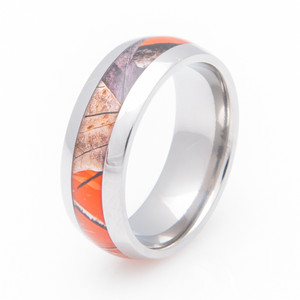 Titanium Realtree® AP Orange Camo Ring