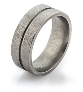 Flat Profile Stone Finish Ring