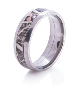 Titanium Camo Wedding Ring