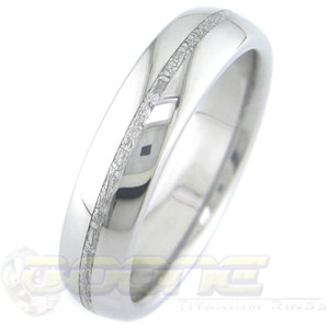Men's Thin Titanium Gibeon Meteorite Ring