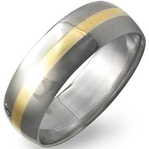 Titanium 18K Gold Inlay Ring