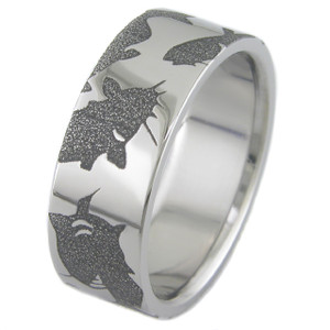 Titanium Catfish Ring
