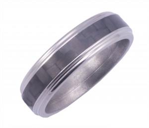 Titanium Grooved Edge with 3mm Carbon Fiber