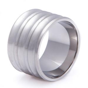 Super Wide Titanium Concave Ring