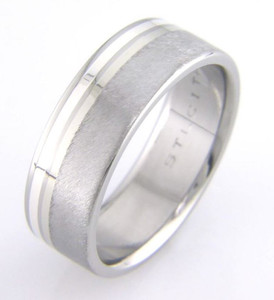 Titanium Band with Platinum and Silver