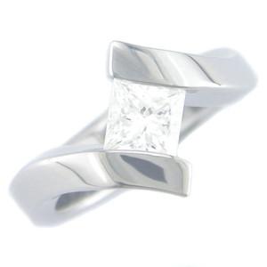 Women's Titanium Tilted Stone Ring