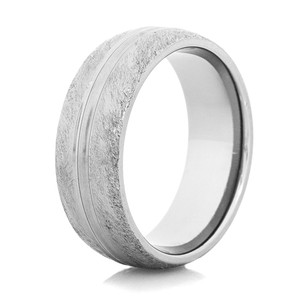 Men's Divided Gunmetal Titanium Western Wedding Ring