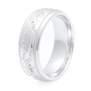 Men's Cobalt Stampede Country Wedding Ring