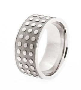 Men's Studded Titanium Ring