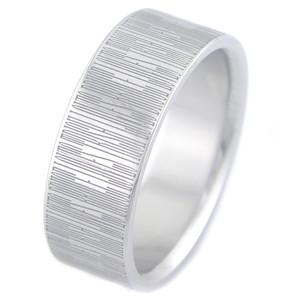 Titanium Hidden Message Ring