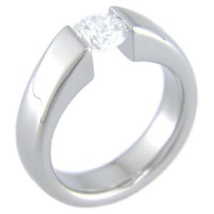 Women's Venus Tension Set Titanium Ring