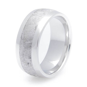 Men's Wide Titanium Gibeon Meteorite Ring
