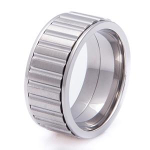 Men's Wide Titanium Spinner Ring