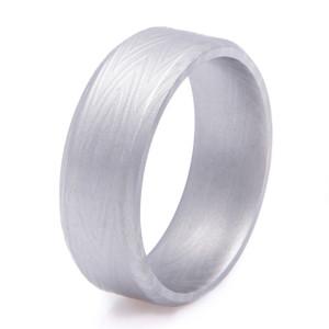 Men's Zebra Pattern Damascus Steel Ring