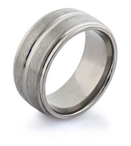 Wide Style Titanium Wedding Ring
