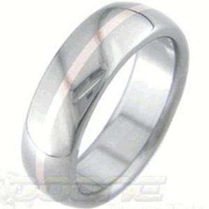 Rose Gold Titanium Ring
