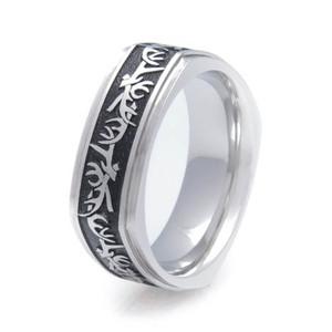Men's Titanium Square Antler Ring