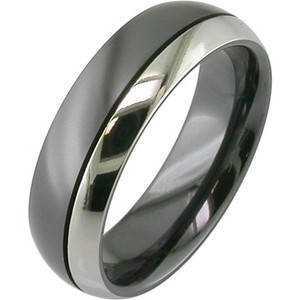 Twin Color Black Zirconium Ring