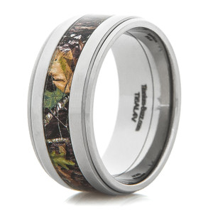 Men's Titanium Two-Step Camouflage Band
