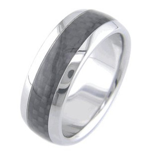 Titanium and Black Carbon Fiber Ring
