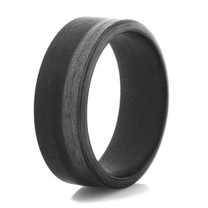 Men's 9mm Carbon Fiber Halos Ring