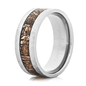 Mossy Oak Infinity Hammered Camo Ring
