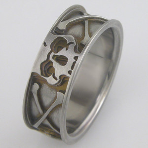 Men's Titanium Skull & Crossbones Ring