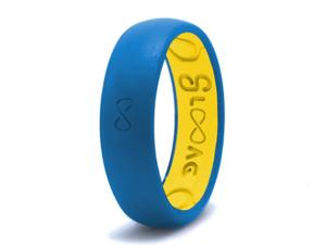 Narrow Silicone Breathable Ring- Glacier Blue