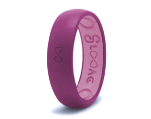 Lilac Purple Groove Original Narrow Silicone Ring