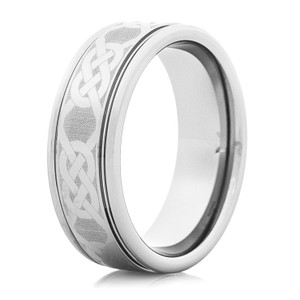 Men's Tungsten Celtic Knot Ring