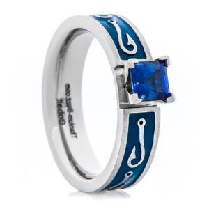 Women's Blue Sapphire Fish Hook Ring
