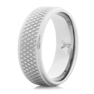 Men's Titanium Hockey Puck Ring