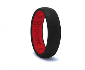 Midnight Raspberry Groove Original Narrow Silicone Ring
