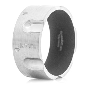 Men's Titanium Revolver Ring with Glock Grey Interior