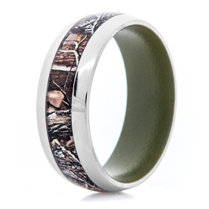 Men's Titanium Realtree® AP Camo Ring with Bazooka Green Interior