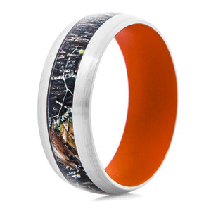 Men's Mossy Oak Breakup Camo Ring With Hunter Orange Interior