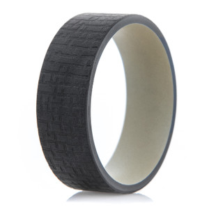 Men's Charcoal Grey Tree Bark Band with Sand Interior