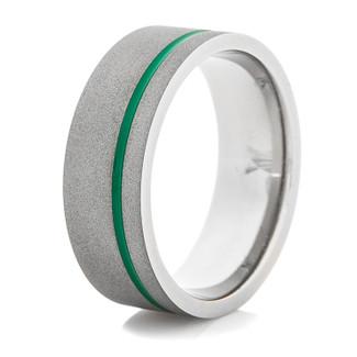 Sandblasted Titanium Rings